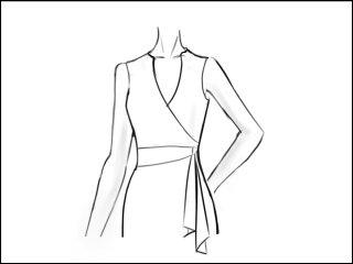丸襟 ラップドレス<br>- 袖と裾をデザイン画像から -