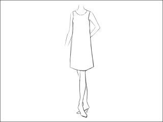 スタンダードAラインワンピース<br>- 襟と袖をデザイン画像から -