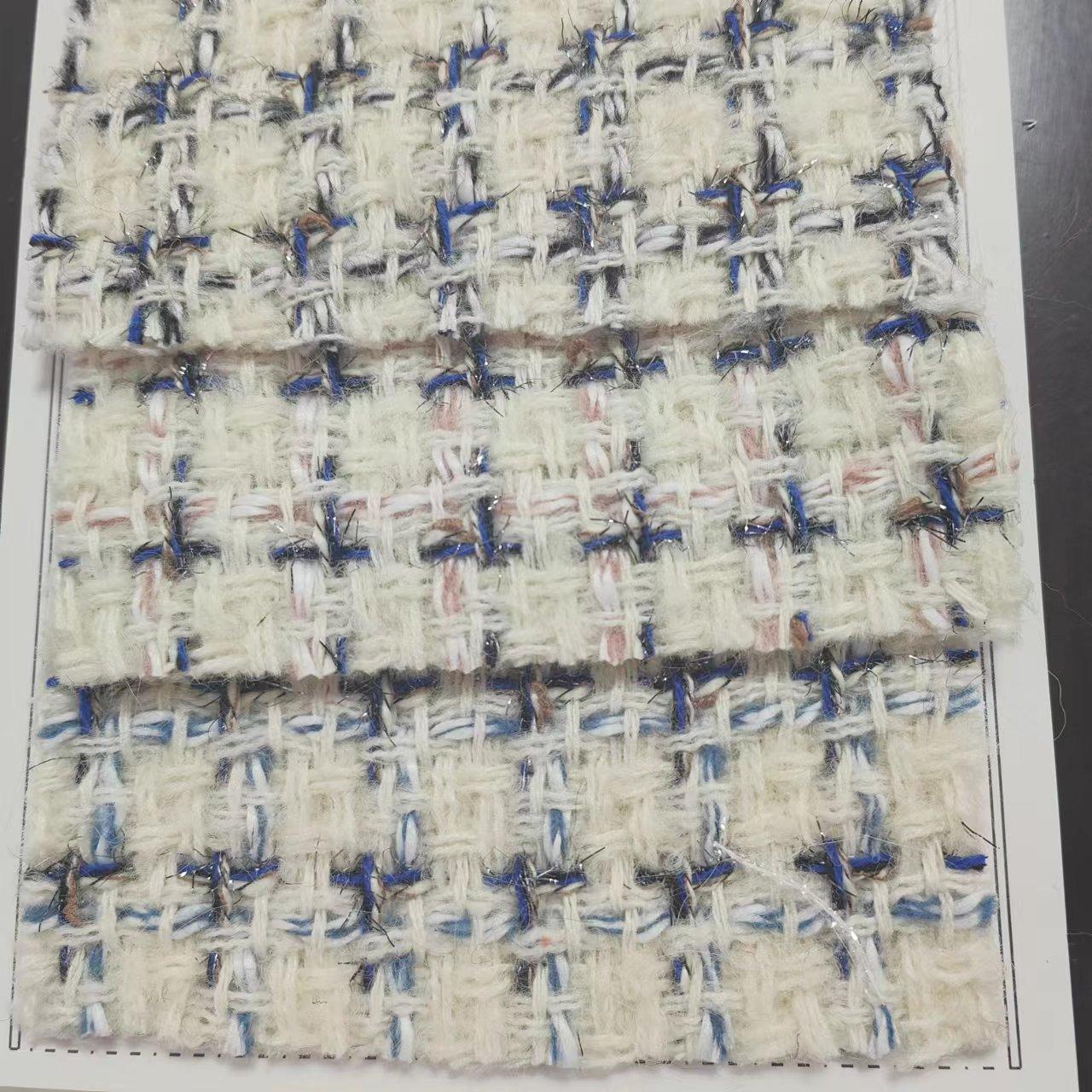 TW1013綺麗なグリーンニット風ウールツイード