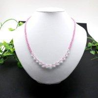 ネックレス ピンクトパーズと水晶