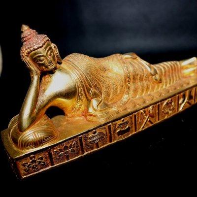 涅槃仏,ニルヴァン仏(メタルゴールド)nirvan buddha metalgold