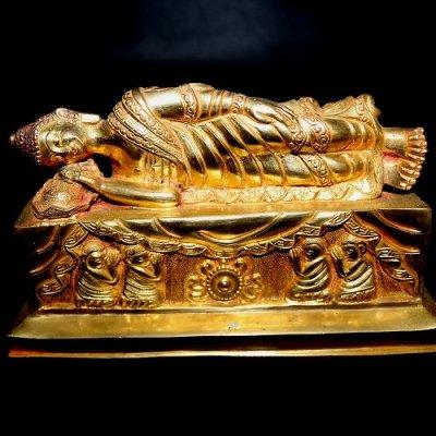 涅槃仏,ニルヴァン仏(メタルゴールド)nirvana buddha metalgold