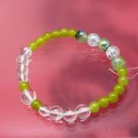 olive jade, プレナイト,水晶 (9月誕生石)
