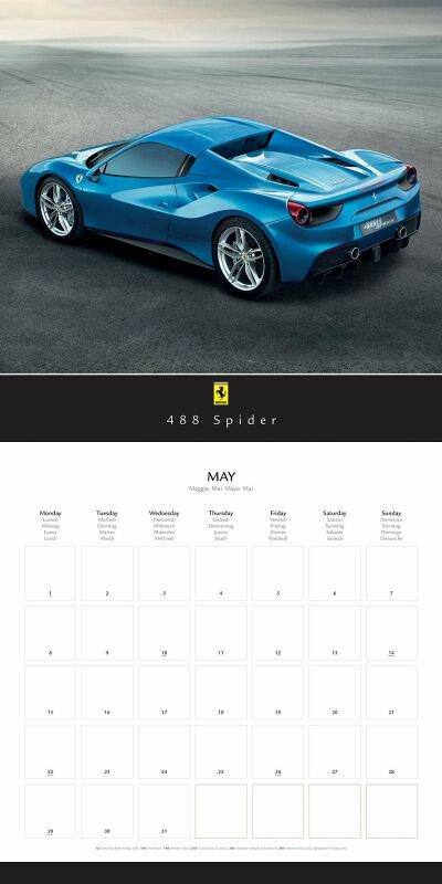 2017年 輸入 フェラーリ GT カレンダー