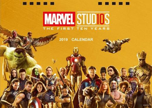 卓上 MARVEL 10th 2019年 カレンダー