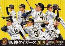 卓上 阪神タイガース 週めくり 2019年 カレンダー
