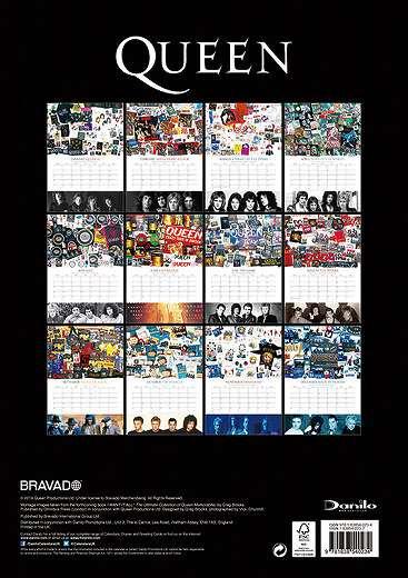 輸入版 クイーン 2020年 カレンダー