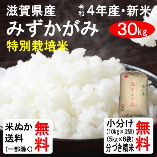 (会員様は500円引き!)平成27年産 滋賀県産 特別栽培米みずかがみ(2等玄米) 30kg 送料無料