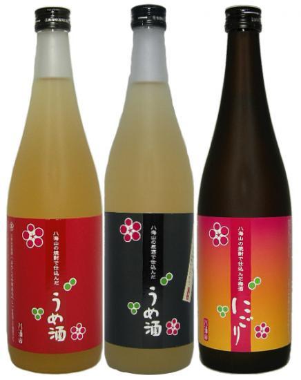 (ホワイトデーに!送料・ギフトラッピング無料)八海山 梅酒 720ml飲み比べ3本セット