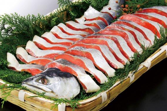 天然塩紅鮭切り身
