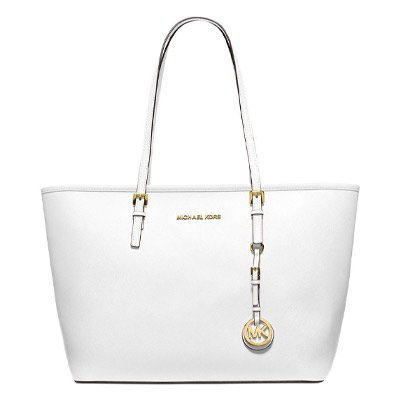 MICHAEL KORS/マイケルコース JET SET MEDIUM TRAVEL TOP ZIP  TOTE  OPTIC WHITE  30S4GTVT2L