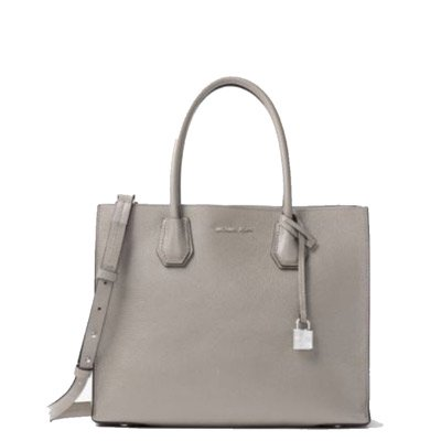 MICHAEL KORS/マイケルコース MERCER LARGE BONDED-LEATHER TOTE  PEARL GREY   30F6SM9T3L