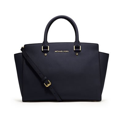MICHAEL KORS マイケルコース SELMA LARGE TOP-ZIP SATCHEL NAVY 30S3GLMS7L 406