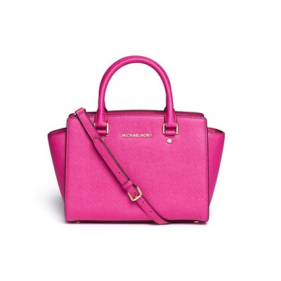 MICHAEL KORS/マイケルコース SELMA MEDIUM TOP-ZIP SATCHEL FUSCHIA 30S3GLMS2L