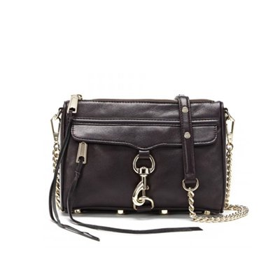 REBECCAMINKOFF MINI M.A.C. BLACK/GOLD