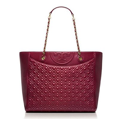 TORY BURCH/トリーバーチ FLEMING TOTE DEEP BERRY