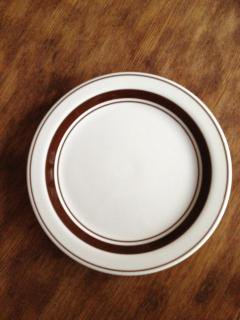 KANESUZU デザート皿 ブラウン 19.4cm