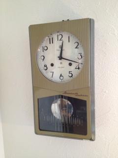 愛知時計の振り子時計(動作品)