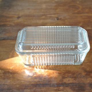 トルコ製ガラスのバターケース