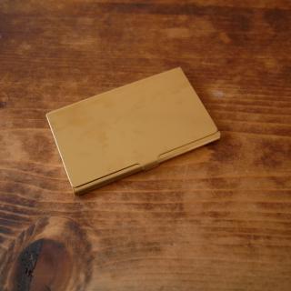真鍮のカードケース(無垢)