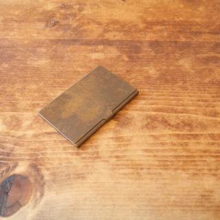真鍮のカードケース(錆)