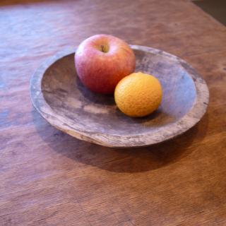 木彫りの繭皿(繭盆)