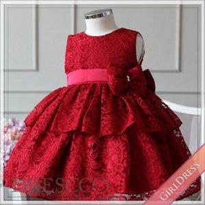 (一時販売中止) エンブロイダリーフラワーレッドドレス
