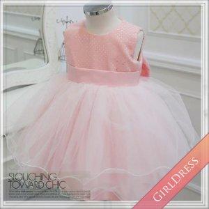 シルバードットピンクドレス