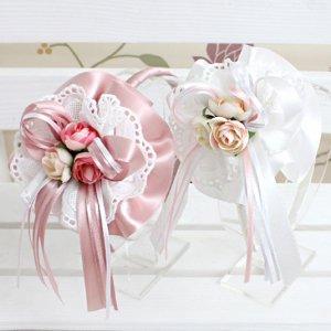 ナナブーケカチューシャ(ピンク/アイボリー)(2色カラー)