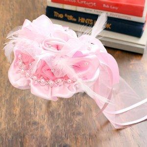タラローズヘッドドレス(ピンク/アイボリー)