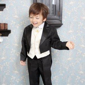 モダンベストえんび服5点セット(えんび服上下+ワイシャツ+ベスト+ネクタイ)