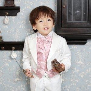 ウイリアムベストホワイトえんび服5点セット(えんび服上下+ワイシャツ+ベスト+ネクタイ)