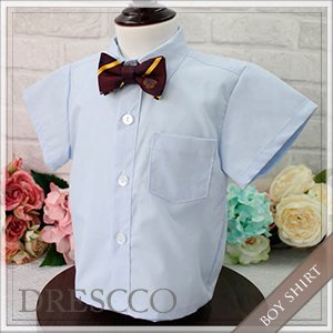 半袖ワイシャツブルー