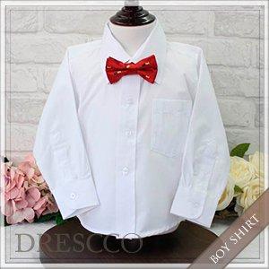 長袖ワイシャツホワイト