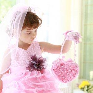ティファニーローズバッグ(ピンク/アイボリー)(2色カラー)