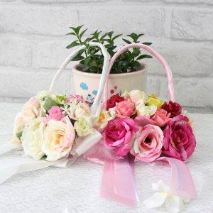 ハンドルブーケ(ピンク/アイボリー)(2色カラー)