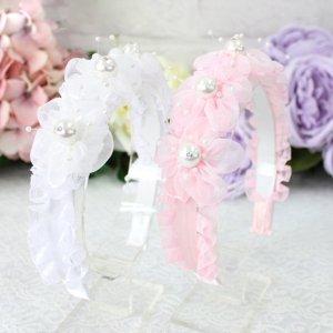 ビッグパールカチューシャ(アイボリー/ピンク)2色カラー