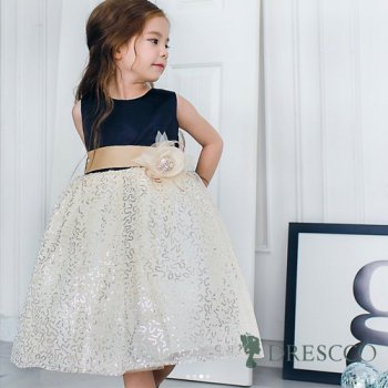 (一時販売中止) ゴールドスパンコールレースドレス