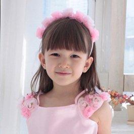 フラワーカチューシャ(ピンク/アイボリー)2色カラー