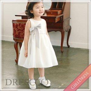 エリエニスグレーコサージュホワイトドレス
