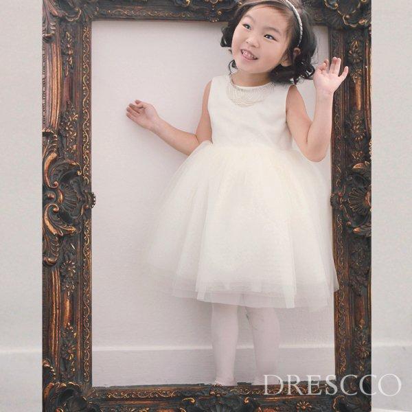 アイリスビジューネックレスビックリボンホワイトドレス