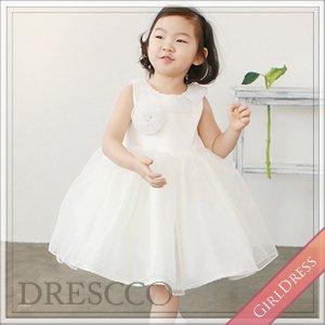 エリスドットレースホワイトドレス