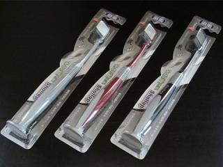 歯ブラシ(吸盤付)「3D植毛&備長炭配合」【3色セット】お買い得