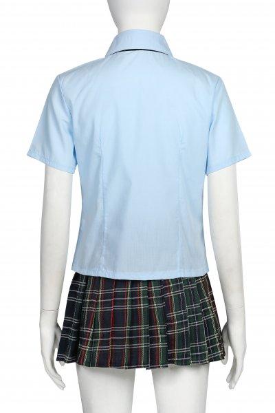 コスプレ セーラー服  青い女子高校生 制服