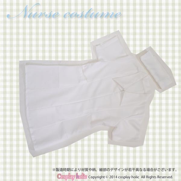 ナース服 コスプレ ワンピース   白・ピンク