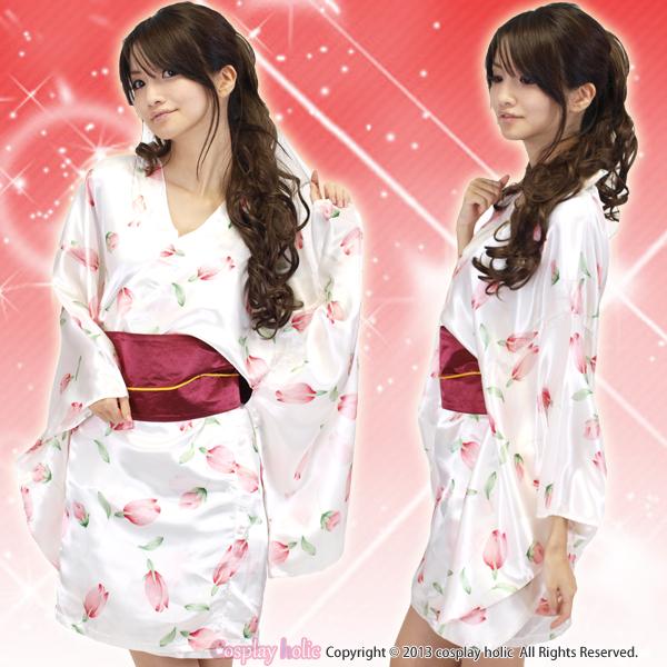 和服 コスプレ 衣装 激安通販 ピンクのチューリップ柄