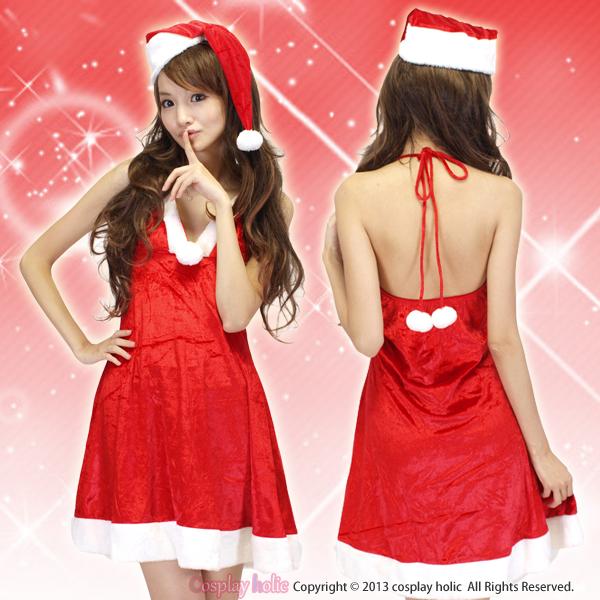 サンタ コスプレ ドレス スッキリラインが特徴の色っぽい
