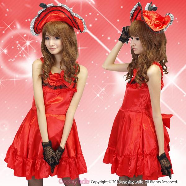 ハロウィンコスプレ 仮装 真っ赤な海賊プリンセス衣装