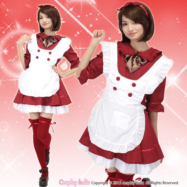 メイド服  深紅の赤ずきんちゃん風