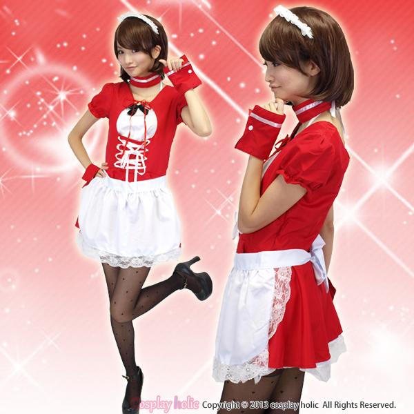 メイド服 通販 真っ赤なアニメ風